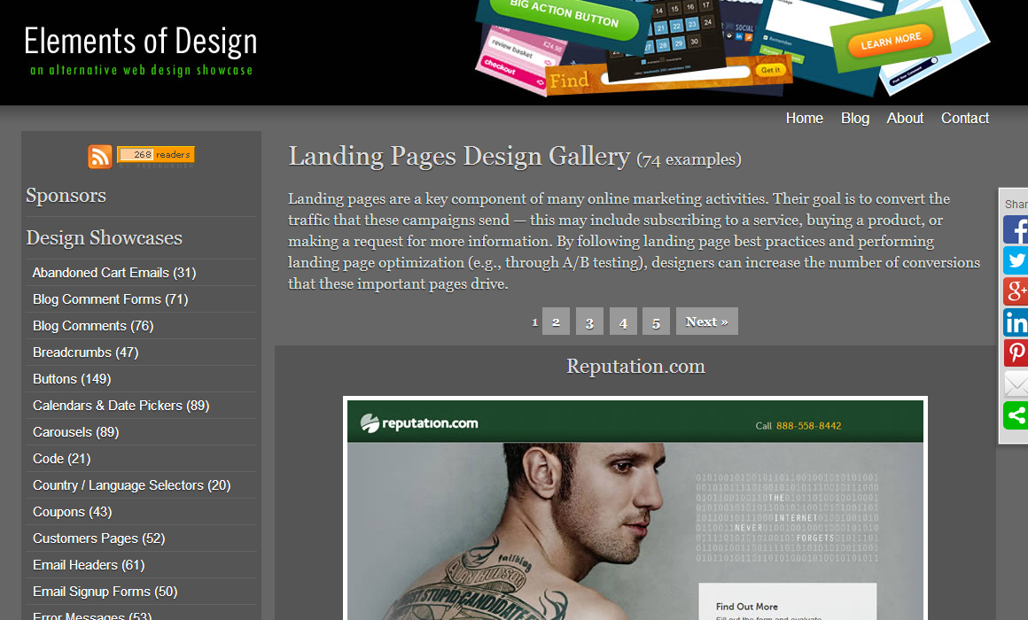 Landing Pages Design Gallery   Elements of Design