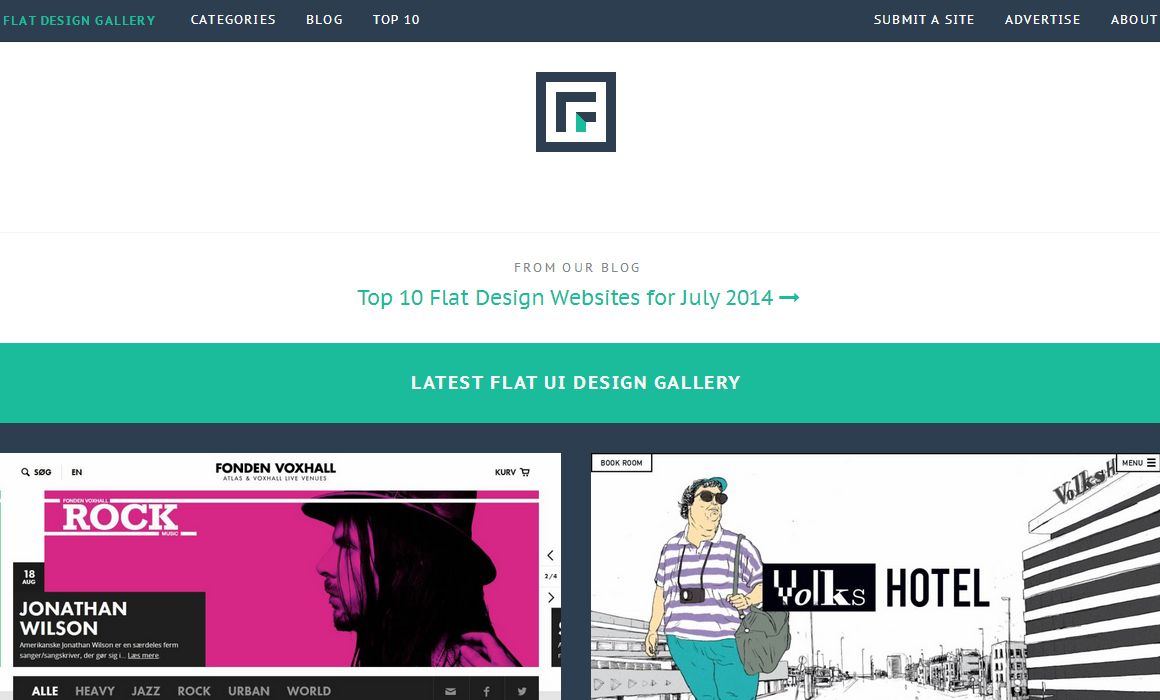 Flat design gallery   Finest collection of flat ui website designs   Flat Trendz