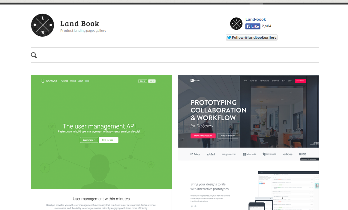 Land book   best landing pages gallery